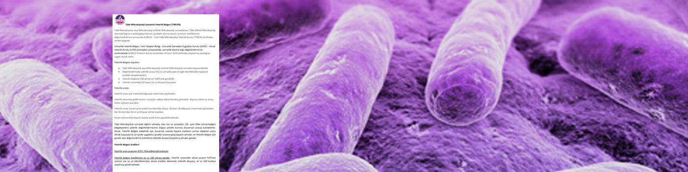Tıbbi Mikrobiyoloji Uzmanlık Yeterlik Sınavı